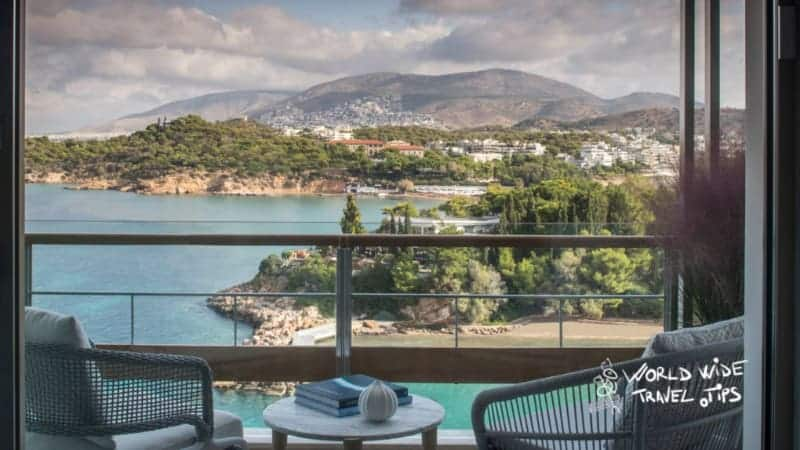 Four Seasons Astir Palace Hotel Balcony view luxury hotels Athens Greece