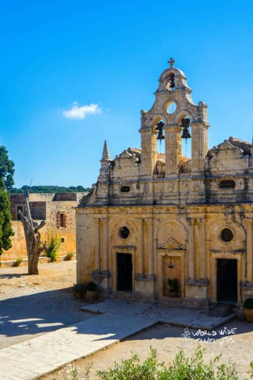 Greek Crete Arkadi Monastery Ancient Ruins Temple