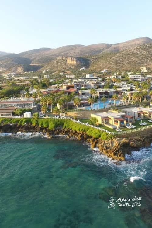 Ikaros Beach Resort Spa aerial view