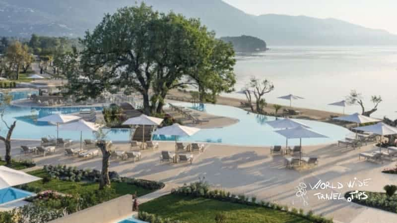 Luxury hotel in Greece all inclusive Ikos Dassia Luxury Pool Area