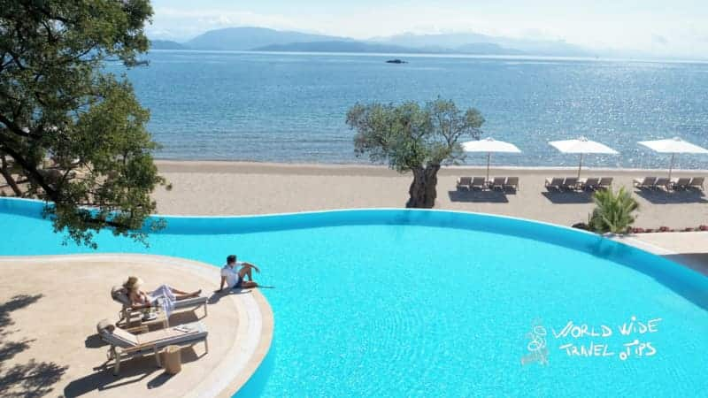 Ikos Dassia infinity Pool with sea view