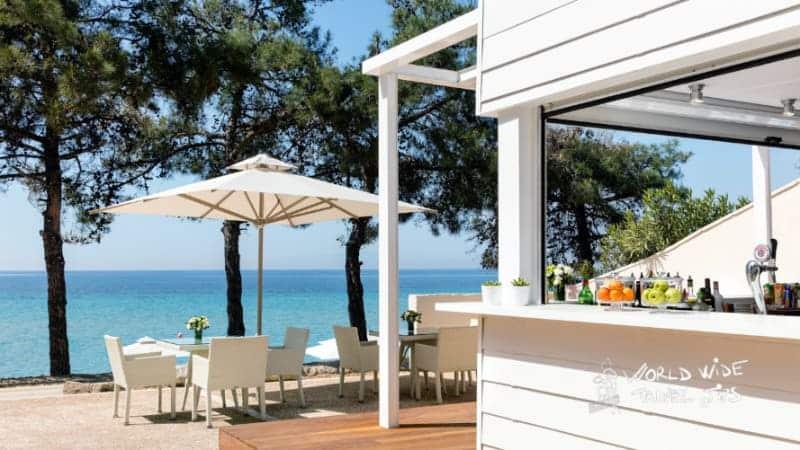 Ikos Oceana Beach Bar luxury hotel in Greece for families