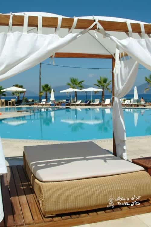 Ionian Emerald Resort Sunbed Pool area