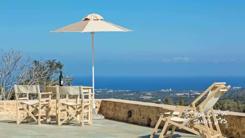 Kapsaliana Village Hotel terrace view