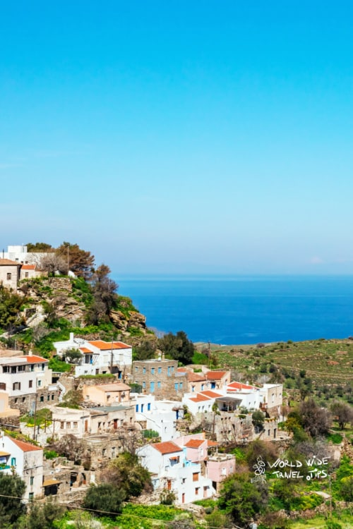 Kea Grek Island Greece near Athens Greek Town landscape