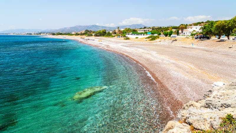 weather in Kiotari Rhodes in May Kiotari beach on Rhodes