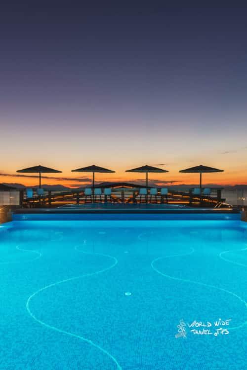 Lalibay Resort spa Aegina 5 star hotel sunset pool
