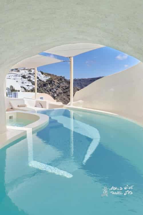 Mystique Hotel Santorini Mystery Villa Pool Covered
