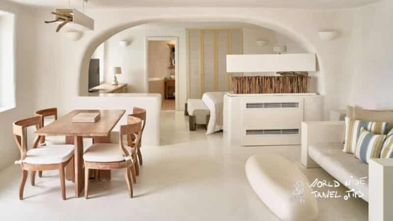 Mystique Hotel Santorini Secrecy Villa Living Room