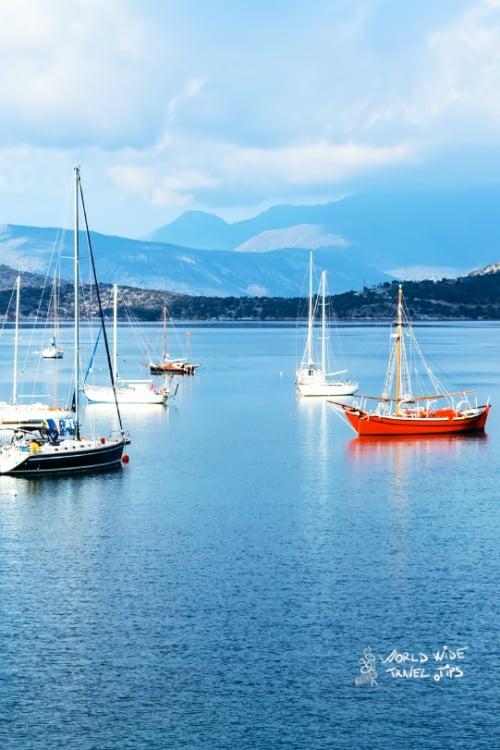 Poros Boats Greek Islands near Athens