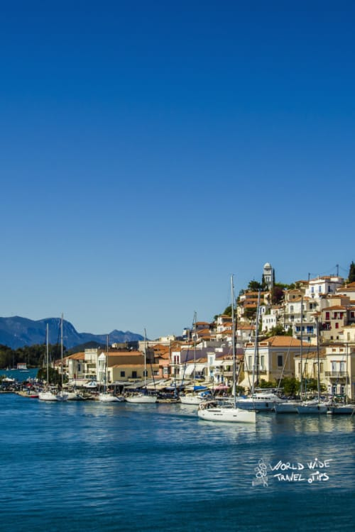 Poros Island Greek Islands near Athens Town Port