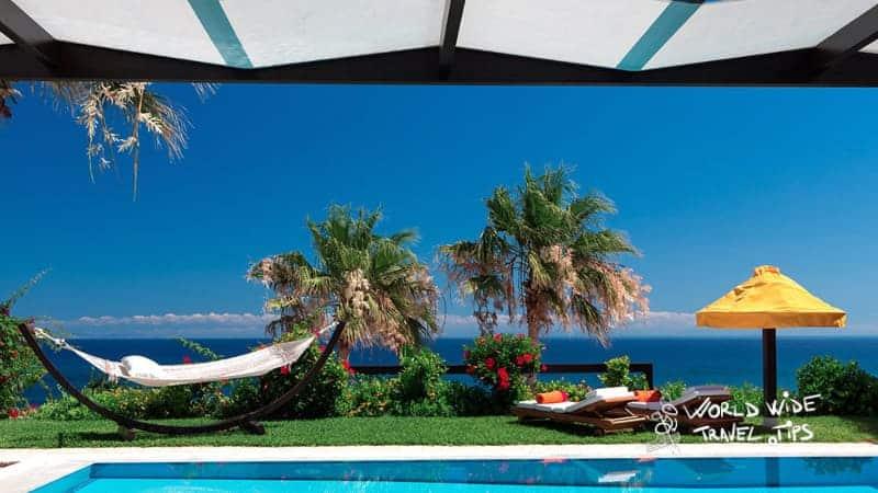 Porto Zante Villas and Spa Hammock Pool Sunbeds