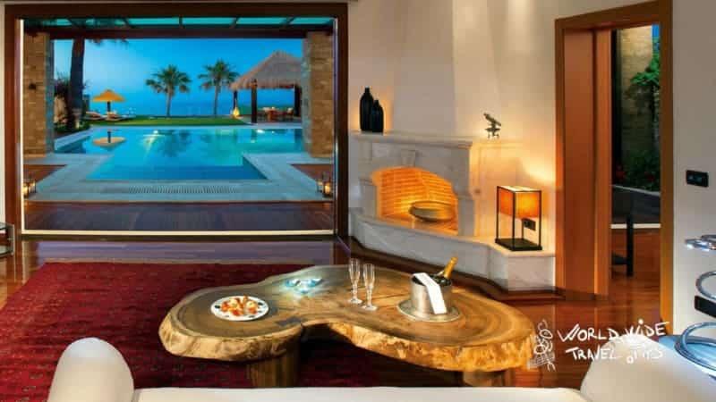 Porto Zante Villas and Spa Imperial Spa Living Room
