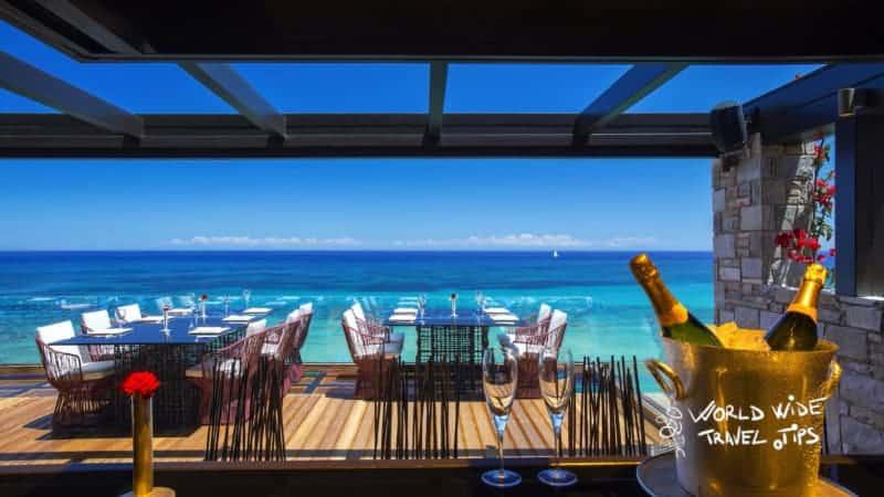 Top Luxury hotels in Greece Porto Zante Villas and Spa Restaurant Terrace
