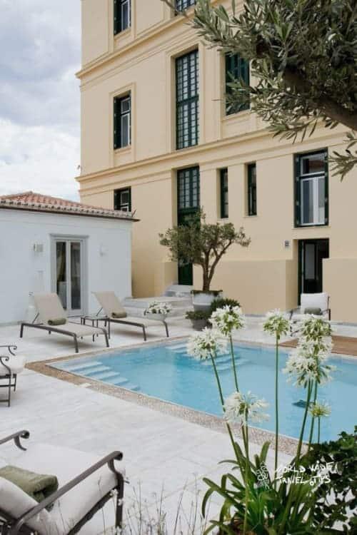 Poseidonion Grand Hotel Outdoor spa area royal family
