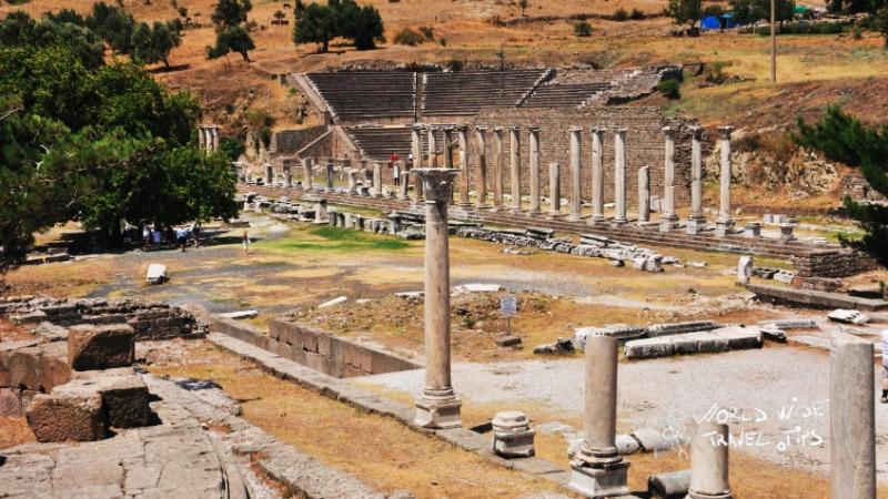 Sanctuary of asclepius asklepion Kos Greek Island Ancient Agora Kos