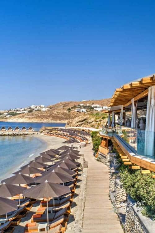 Santa Marina Luxury Hotel Mykonos Beach Area