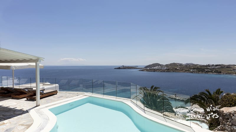 Santa Marina Villa Lapis Lazuli pool in Mykonos