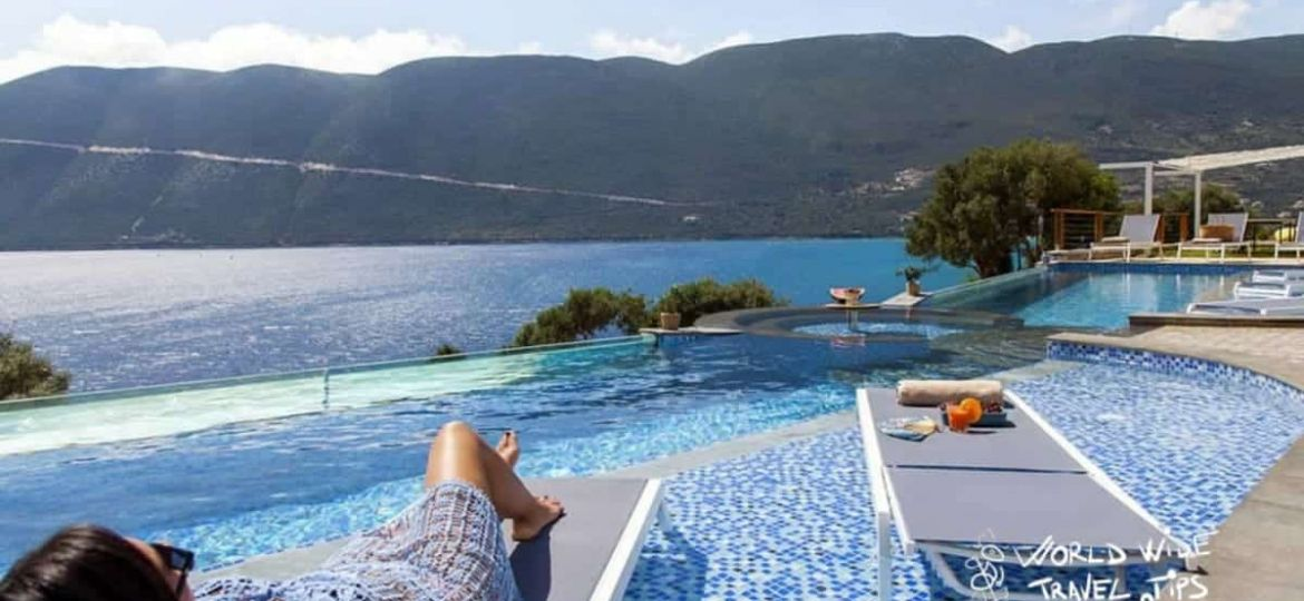 Sappho Boutique Suites Infinity Pool luxury hotels Lefkada Greece