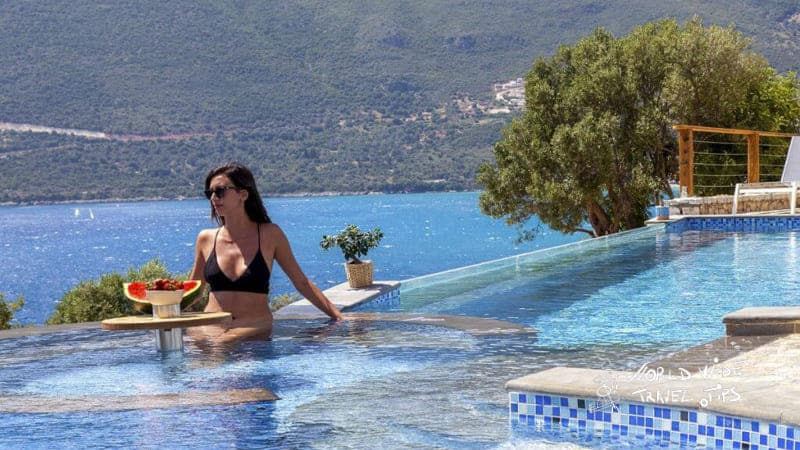 Sappho Boutique Suites Vasiliki lefkada Pool area