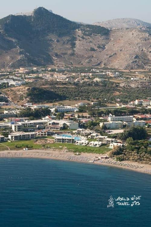 Sentido Port Royal View from above Rhodes best greek island
