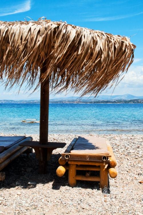 Spetses Beach Greek Island near Athens