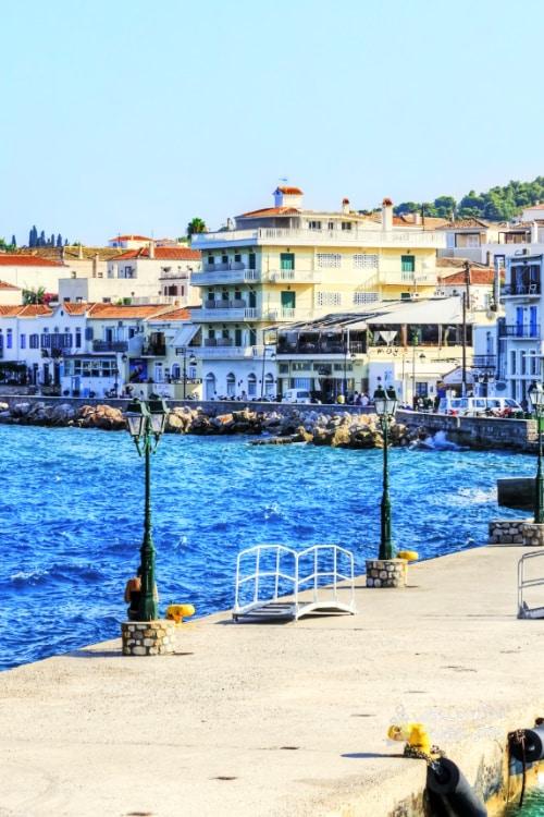 Spetses Greek Island Port