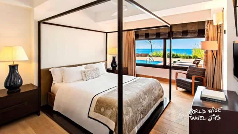 The Romanos Costa Navarino Ambassador Villas Ithomi and Sapientza Master Luxury Bedroom