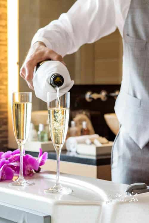 The Romanos Costa Navarino Butler Services At Romanos Ionian Exclusive Champagne