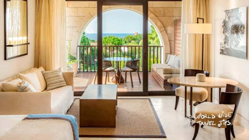 The Romanos Costa Navarino King Deluxe Sea luxury room