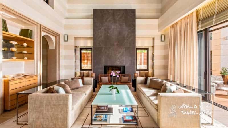 The Romanos Costa Navarino Koroni Royal Villa Living Room