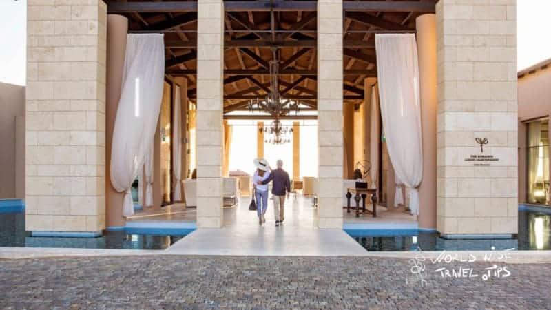 The Romanos Costa Navarino Luxury Hotel Lobby