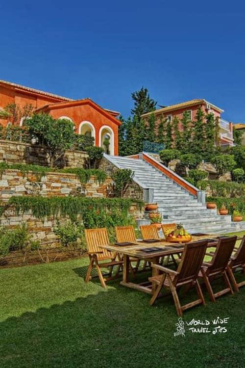 Villa Veneziano Lefkada Outdoor Dining Area