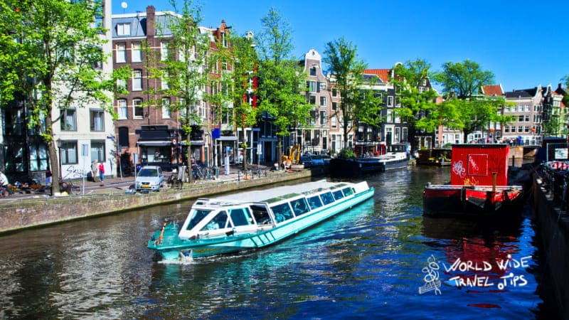 Canal Cruise on Amsterdam Canal in Netherlands
