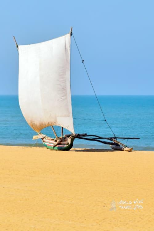 Catamaran Negombo Beach Sri Lanka