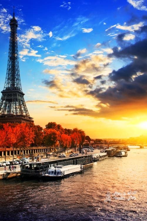 Eiffel Tower Paris Autumn