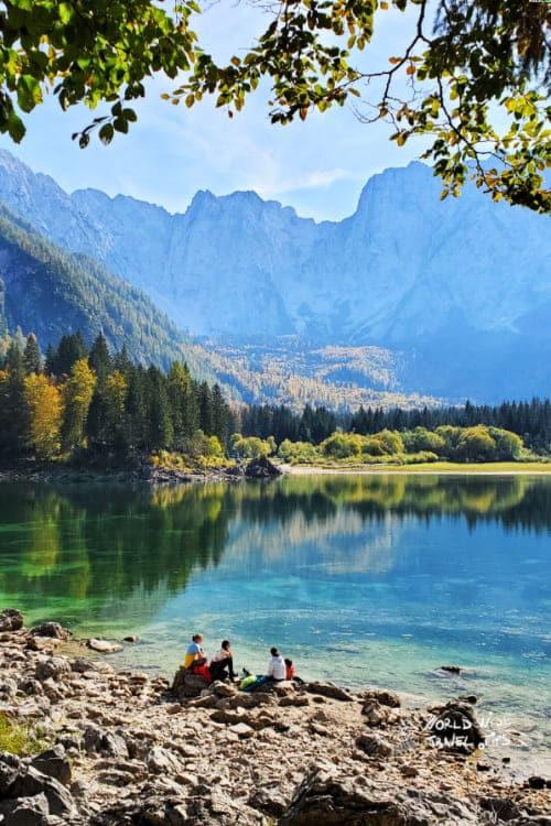 Fusine Laghi Province of Udine Italy Lake