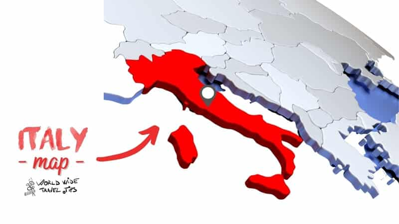 where is Italy located in Europe