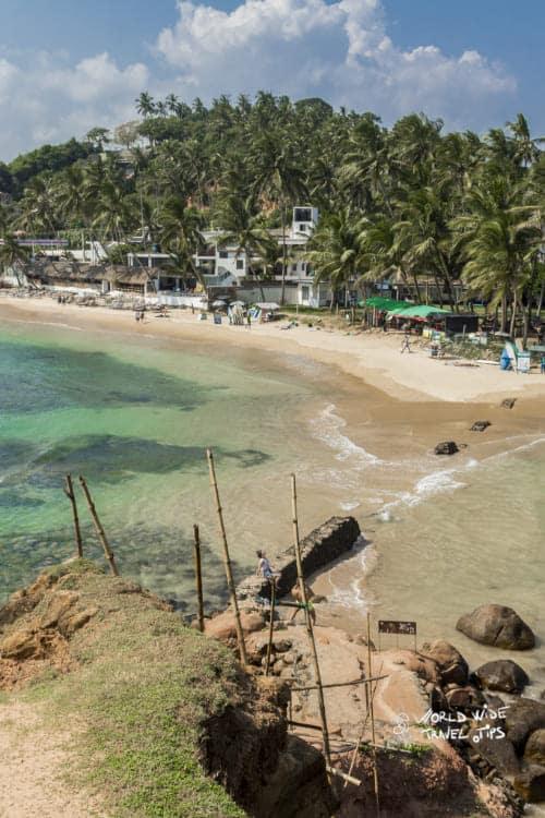 Mirissa Beach in Sri Lanka turquoise water