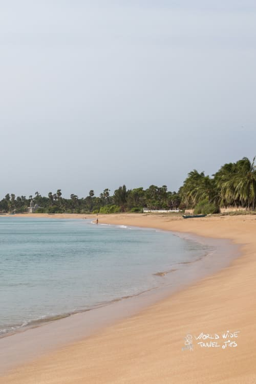 Pristine beach Trincomalee Sri Lanka