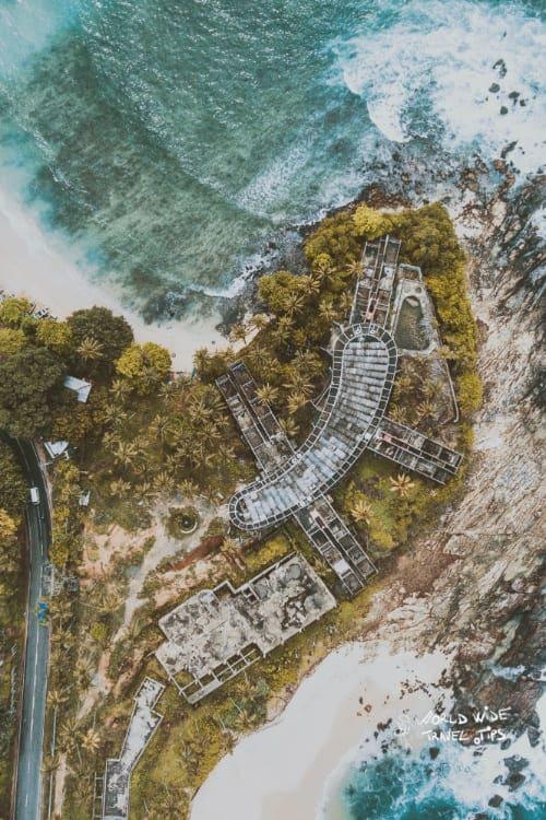 Tangalle Beach Sri Lanka air view