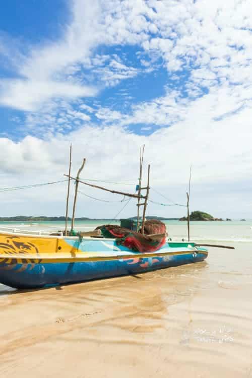 Weligama Beach Sri Lanka Traditional fishing boat