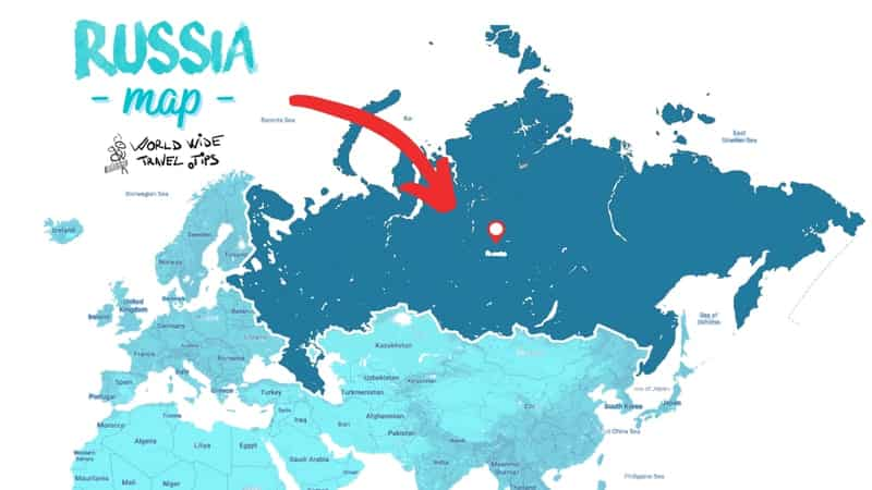 where is Russia on the map