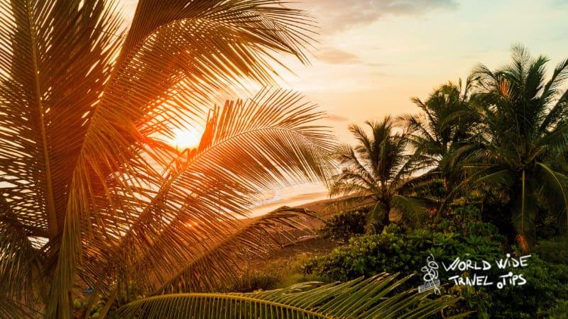 beaches in Jaco Costa Rica Sunset