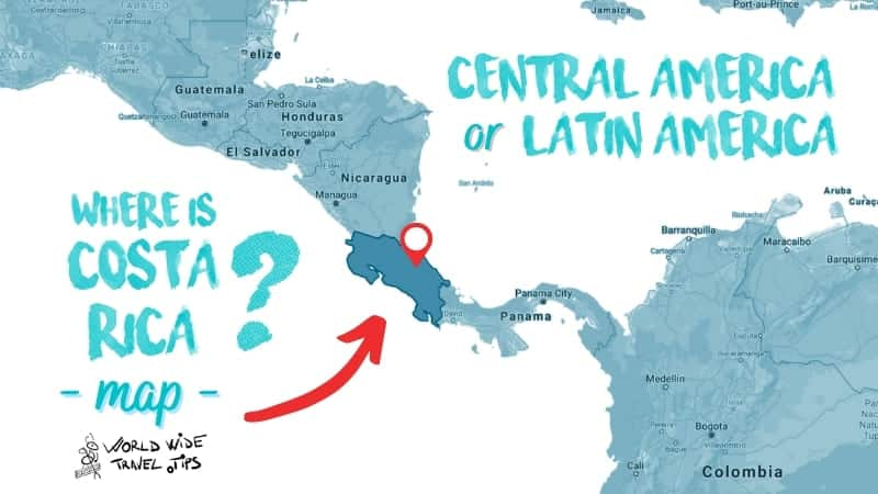 Where is Costa Rica from the US