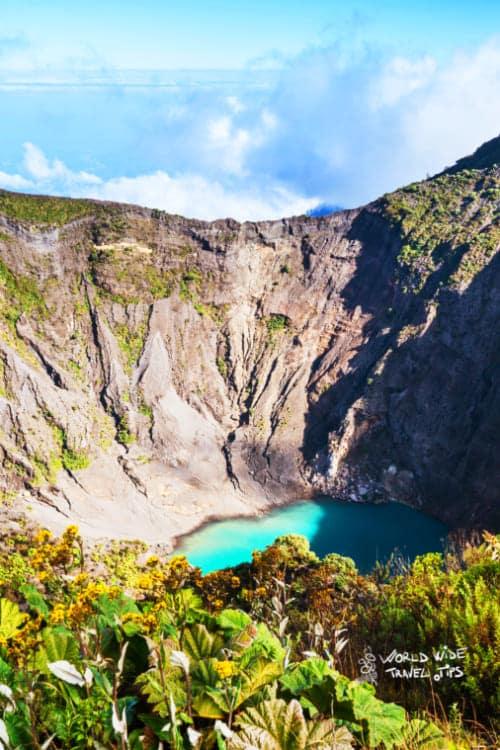 Irazu Volcano Crater Costa Rica