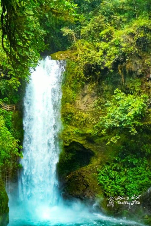 La Paz waterfalls in Costa Rica