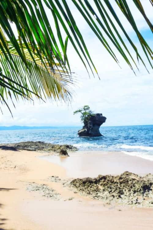 Remote Beach at Gandoca Manzanillo National Wildlife Refuge in Costa Rica