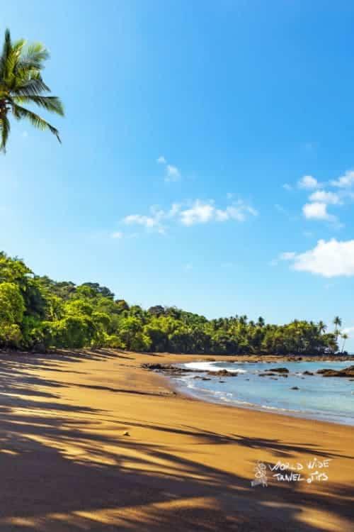 Tropical Beach Osa Peninsula Corcovado National Park Costa Rica