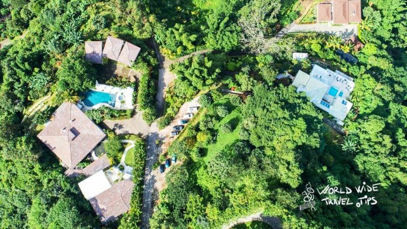 the retreat costa rica drone view